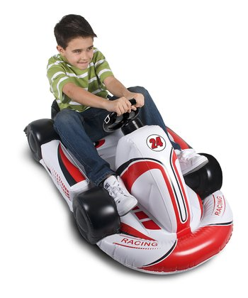 White & Red Inflatable Racing Kart For Wii