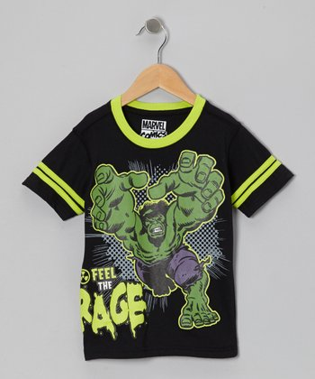Black & Green Hulk Tee - Boys