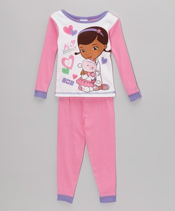 Purple & Pink Doc McStuffins Pajama Set - Toddler