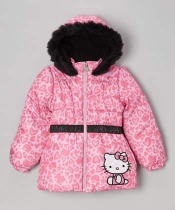 Pink Hello Kitty Wild Heart Coat - Toddler & Girls
