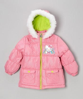 Pink Rainbow Hello Kitty Jacket - Toddler & Girls