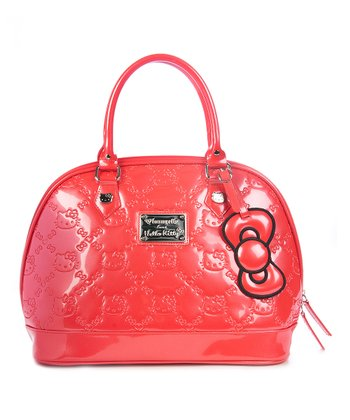 Poppy Red Embossed Hello Kitty Tote