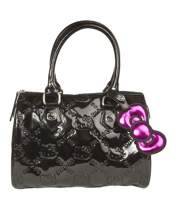 Black Embossed Hello Kitty Mini City Bag