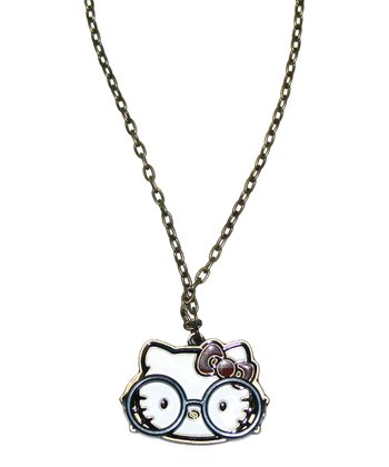 Hello Kitty Glasses Pendant Necklace
