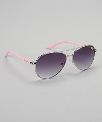 Pink Hello Kitty Pilot Sunglasses