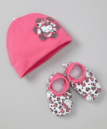 Dark Pink Cap & Booties