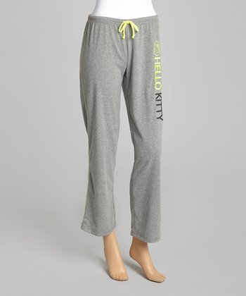 Gray 'Hello Kitty' Lounge Pants - Women