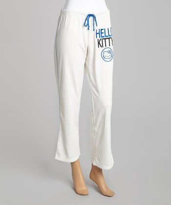 Ivory 'Hello Kitty' Lounge Pants - Women