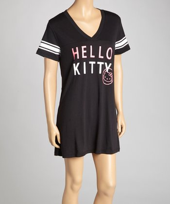 Black 'Hello Kitty' Nightgown - Women