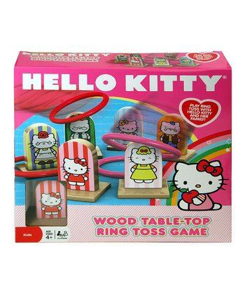 Hello Kitty Wood Ring Toss Game