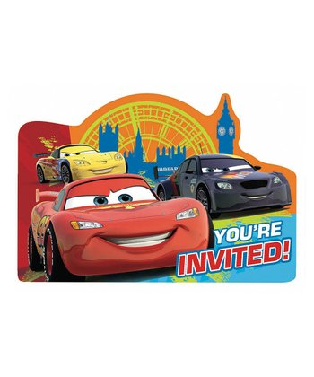 Cars 2 Invitations (1PKG / 8)