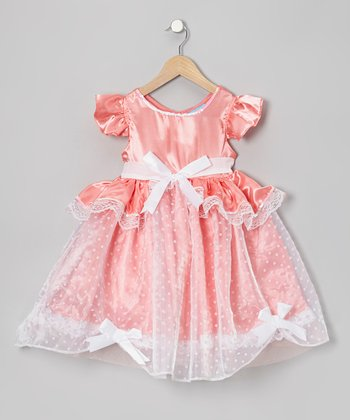 Pink Polka Dot Cinder Slippers Dress - Girls