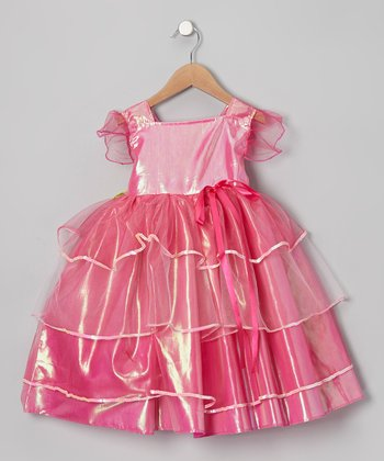 Pink & Purple Pix E. Flutters Dress - Girls