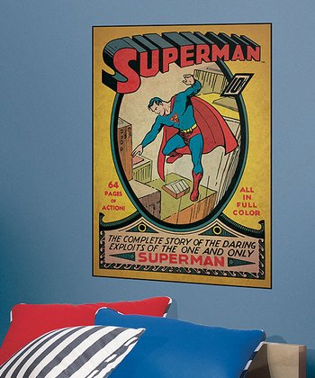 Superman Issue #1 Peel & Stick Comic Cover Wall Decal