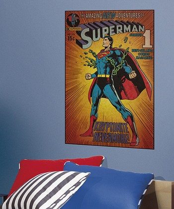 New Adventures of Superman #1 Kryptonite Peel & Stick Comic Cover Wall Decal