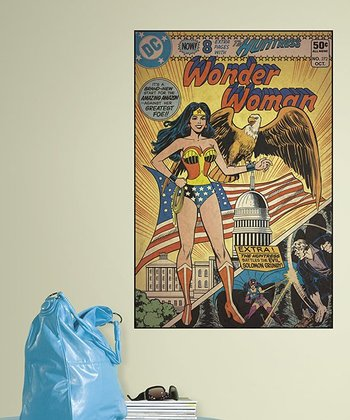 Wonder Woman Peel & Stick Comic Cover Wall Decal