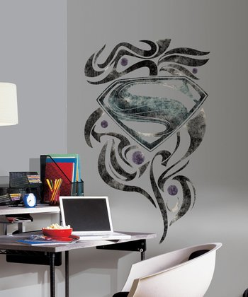 Superman Man of Steel Stylized Logo Peel & Stick Giant Wall Decal