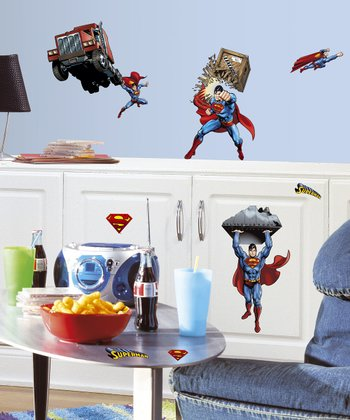 Classic Superman Peel & Stick Wall Decals