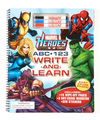 Marvel Heroes ABC, 123 Write & Learn Activity Book