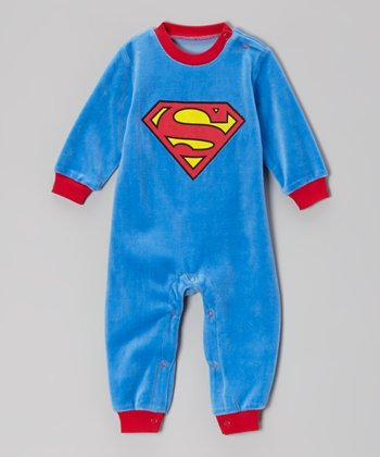 Blue Superman Playsuit - Infant