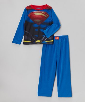 Blue Superman Pajama Set - Boys