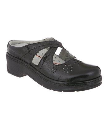 Black Carolina Cutout Clog