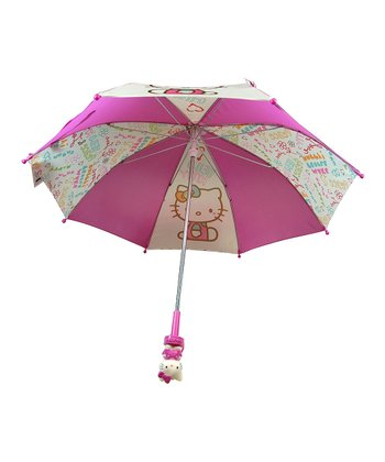Pink & White Hello Kitty Umbrella