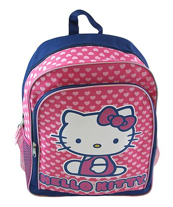 Blue & Pink Heart Hello Kitty  Backpack