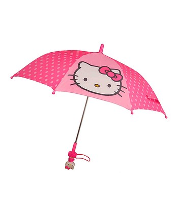 Pink Polka Dot Hello Kitty Umbrella