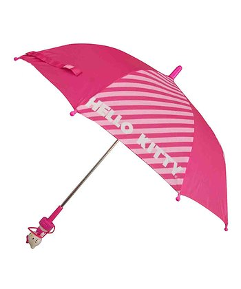 Pink Stripe Hello Kitty Umbrella
