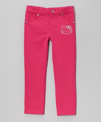 Fuchsia Hello Kitty Jeggings - Toddler