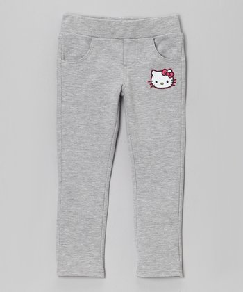 Heather Gray Hello Kitty Pants - Toddler