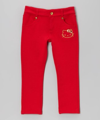 Red Hello Kitty Skinny Pants - Toddler