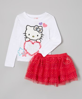 White Tutu Skirt Set - Toddler & Girls