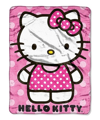 Pink Hello Kitty Dot Throw