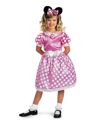 Pink Polka Dot Classic Minnie Dress-Up Set - Toddler & Girls