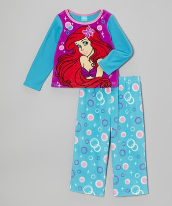 Aqua & Purple Ariel Pajama Set - Toddler
