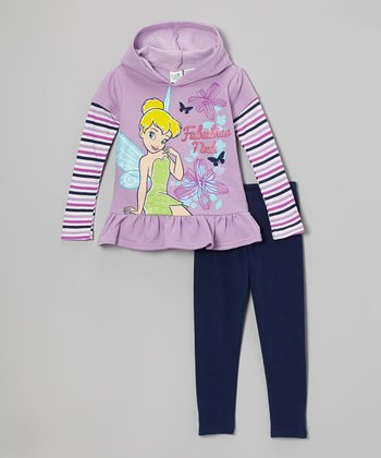 Lavender 'Fabulous Tink' Hooded Pullover & Pants - Girls