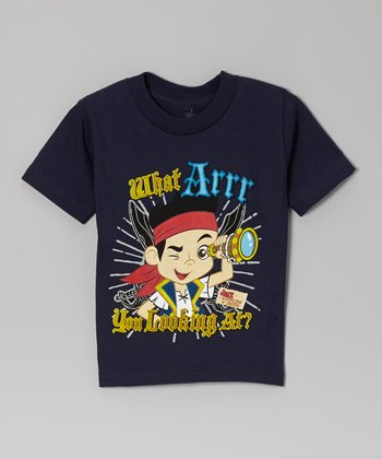 Navy 'What Arrr' Tee - Toddler