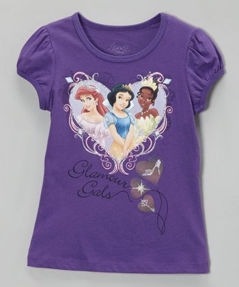 Grape Juice 'Glamour Gals' Cap-Sleeve Tee - Girls