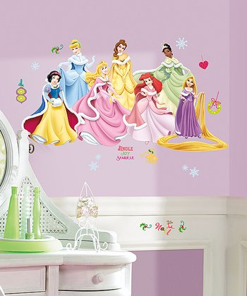 Disney Princess Holiday Wall Decal Set