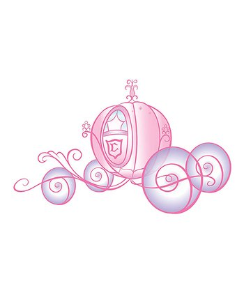 Princess Carriage Giant Wall Decal Set
