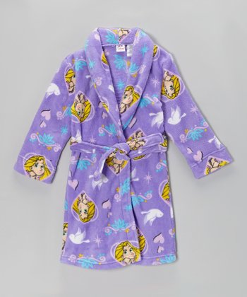 Purple Tangled Robe - Girls