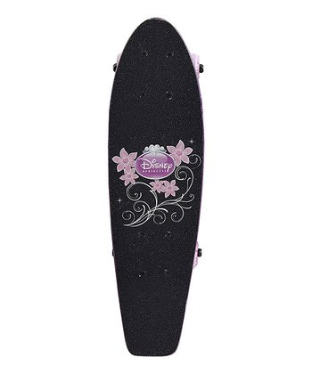 Black & Pink Princess Flower Cruiser Skateboard