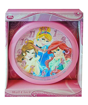 Pink Princess Round Wall Clock