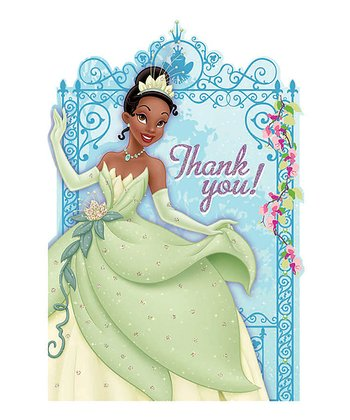 Princess Tiana Thank-You Card - Set of 16