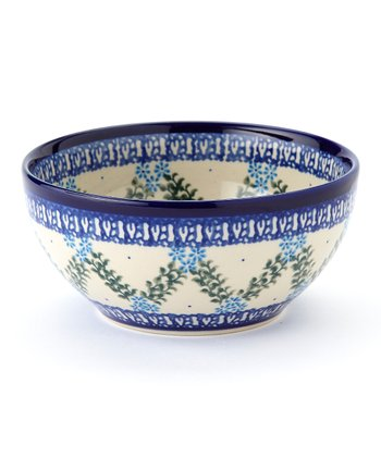 Blue & Green Trellis Bowl