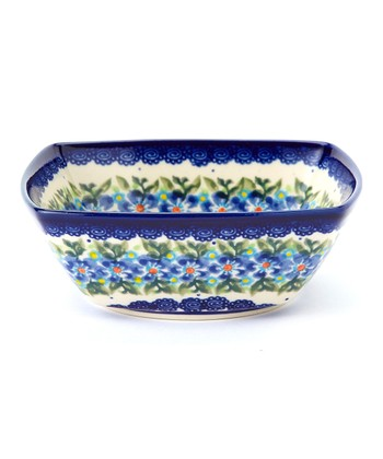 Blue Flower Wreath Mirek Bowl
