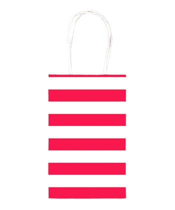 Apple Red - Stripe Birthday Cub Bags