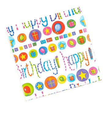 Birthday Happy Gift Wrap - Set of Six